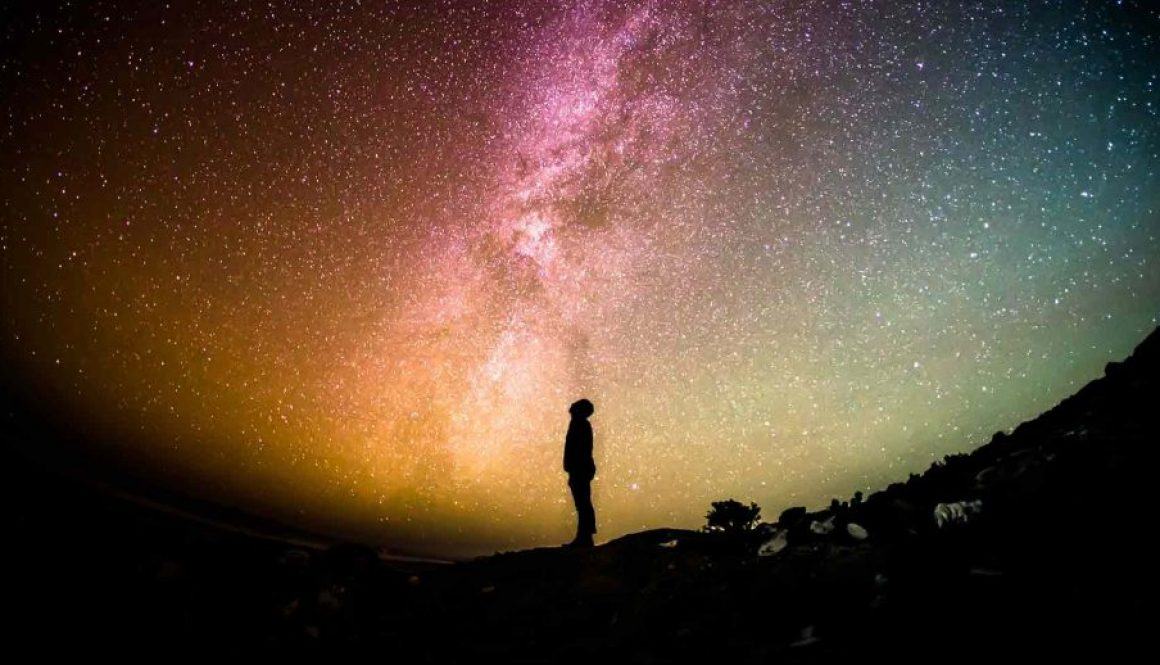 silhouette man with stars 2
